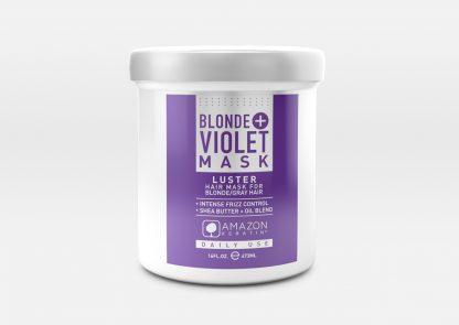 Blonde + Violet Mask
